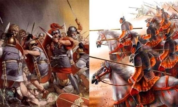 Римские легионеры против китайской армии