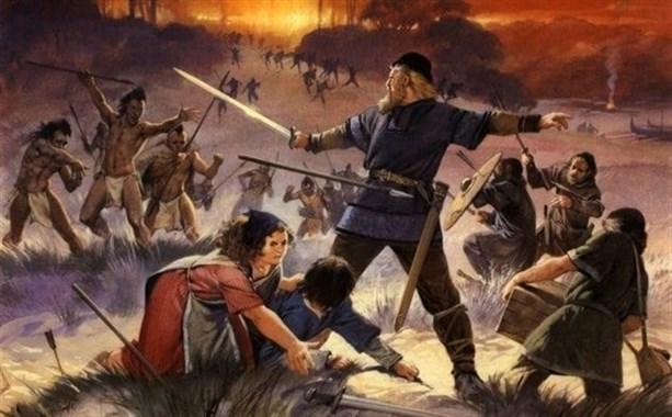 Рейдеры викингов против воинов коренных американцев