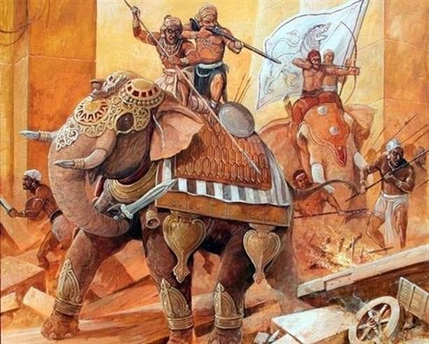 Боевые слоны против артиллерии