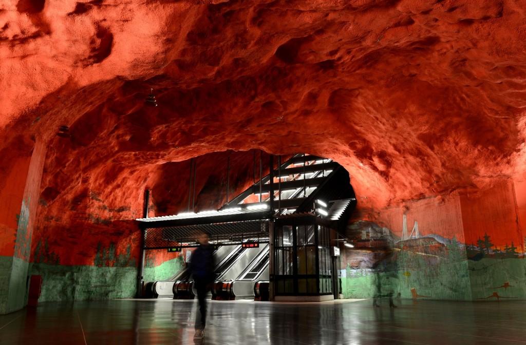 фото метро в Стокгольме