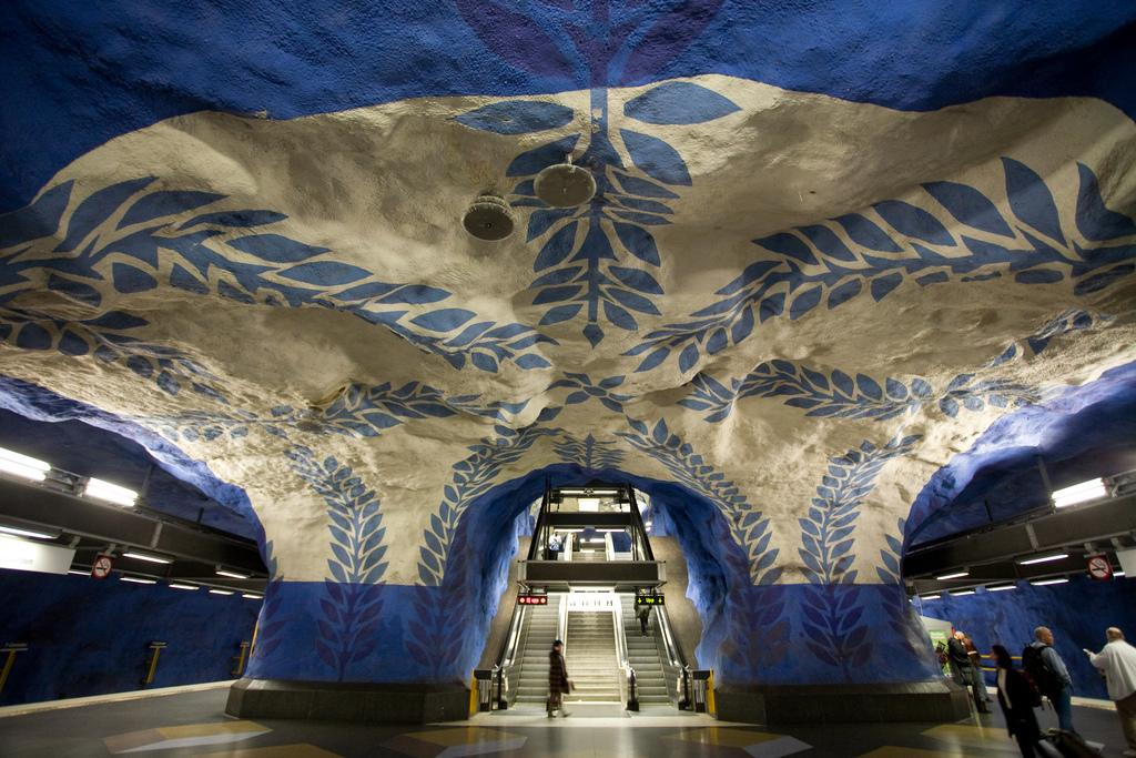 фото метро в Швеции