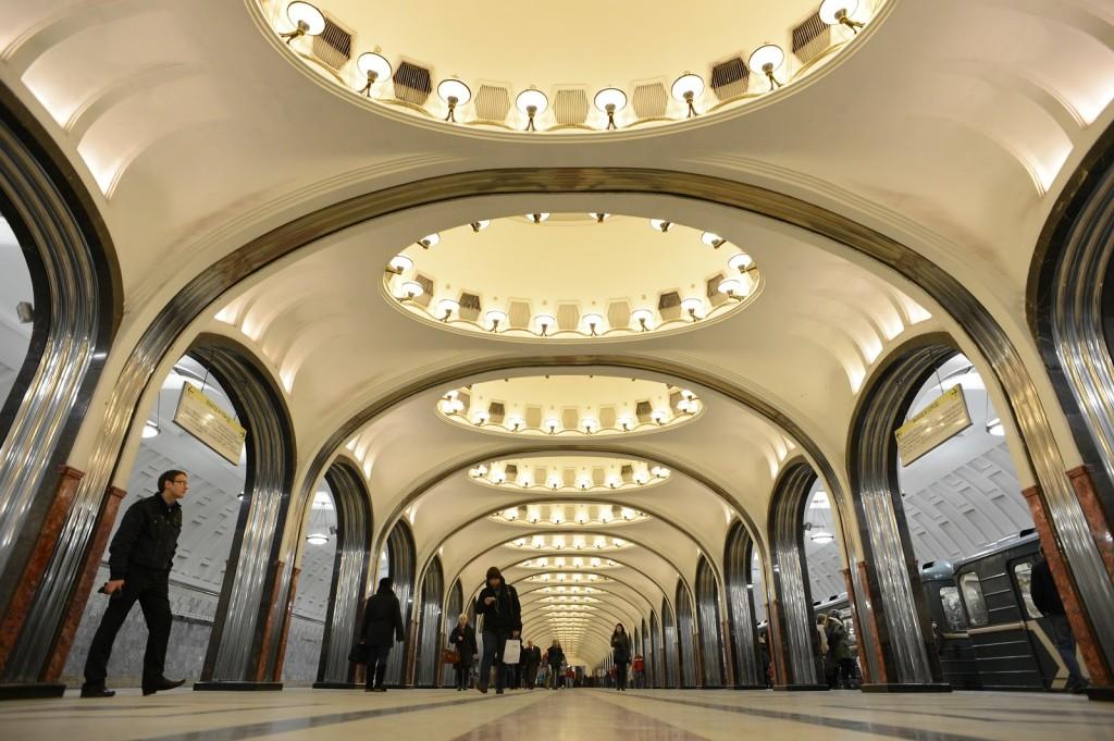 станция метро Маяковская в Москве
