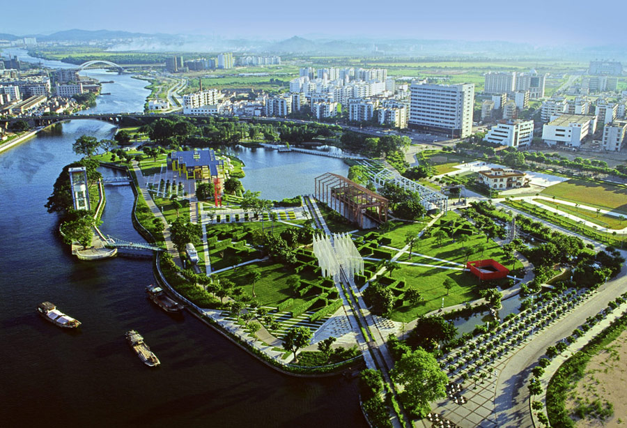 свалки, парки, строительство, экология, красота, китай