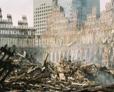 WTC-Wreckage-exterior_shell_of_south_tower-e1391240330623